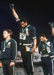 Photo of Black salute at 1968 Olympics