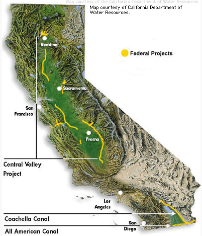 Map of Central Valley Water Project