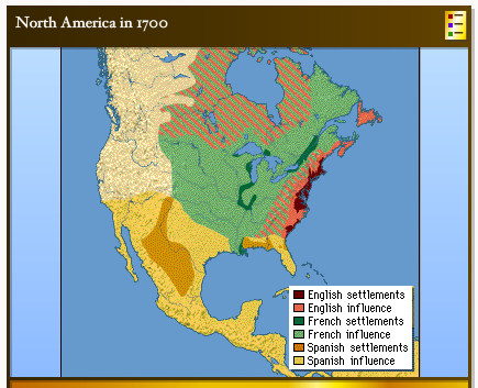 Map Of America In 1700.The Colonists What They Created