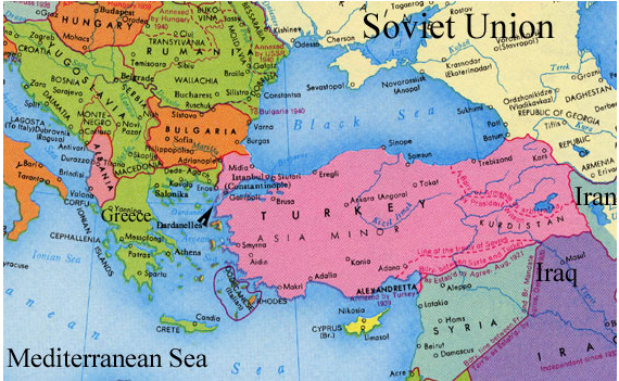 map of greece and turkey after wwii