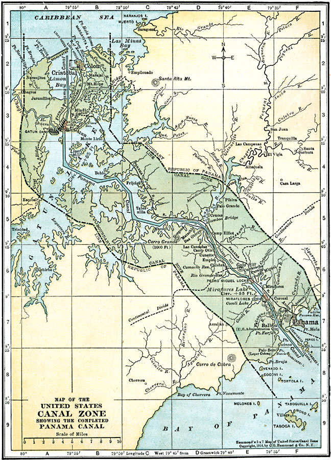 Quest For Empire - Us territorial influence 1914 map