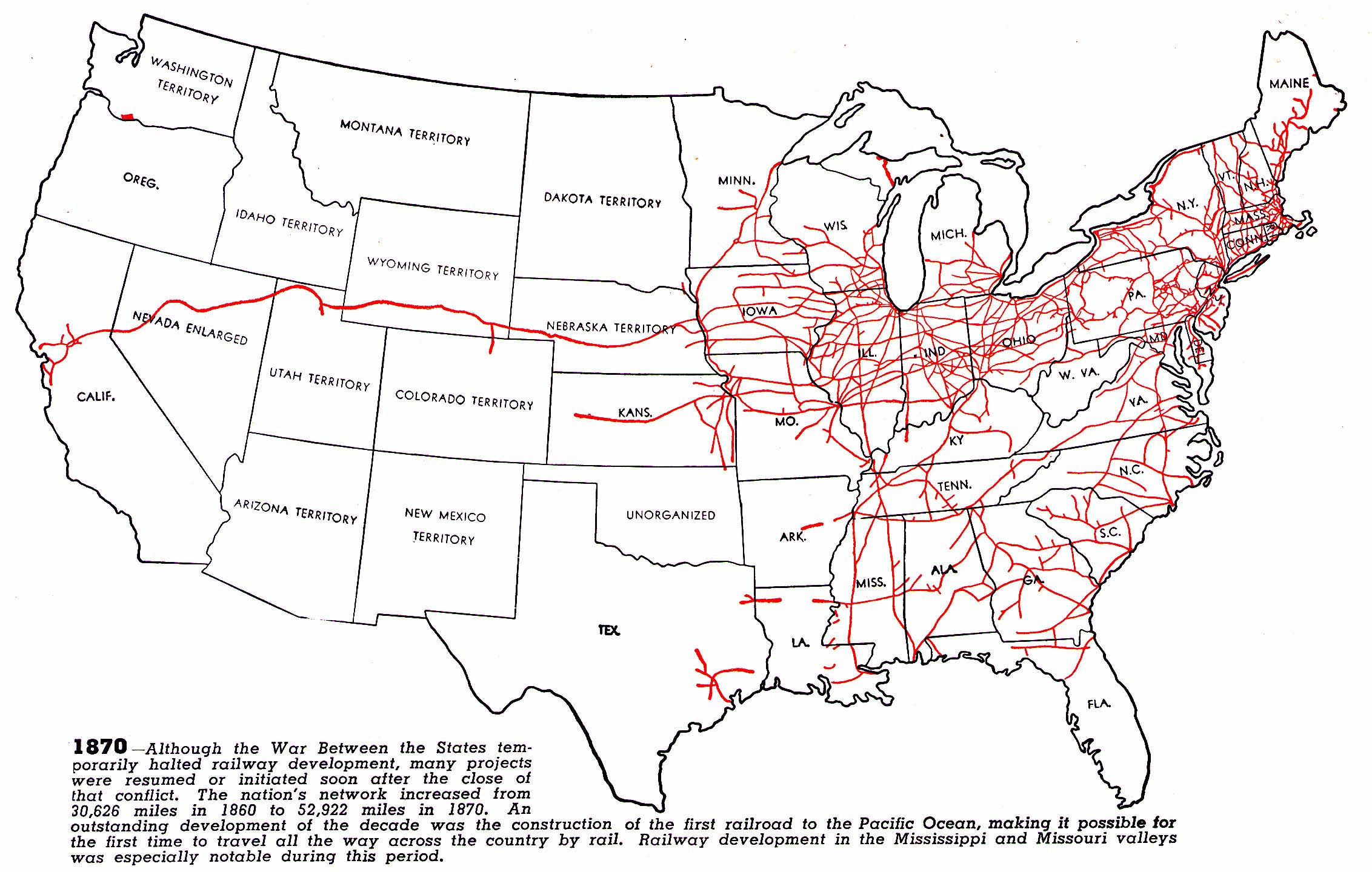 RAILROADNET View Topic Maps Showing Growth And Decline Of - Map of us rail network