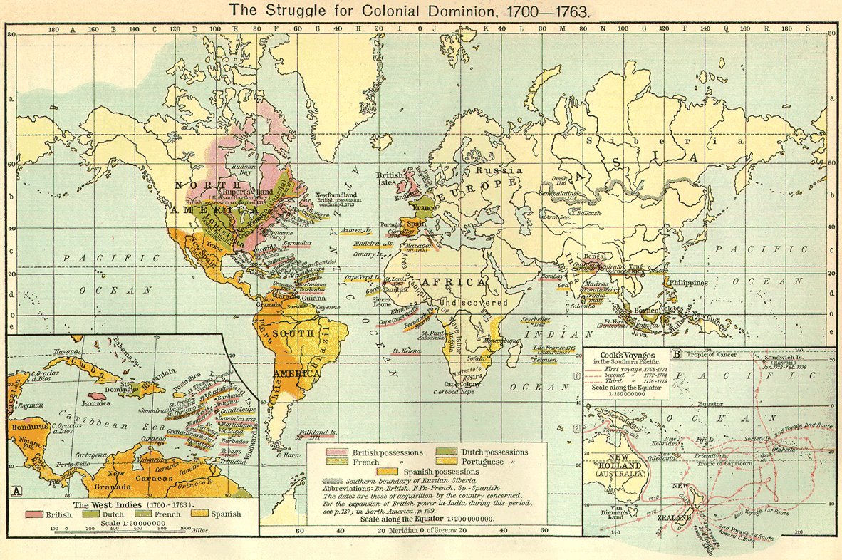 Map of World Colonization 1700
