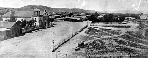 Photo of Los Angeles Pueblo 1869