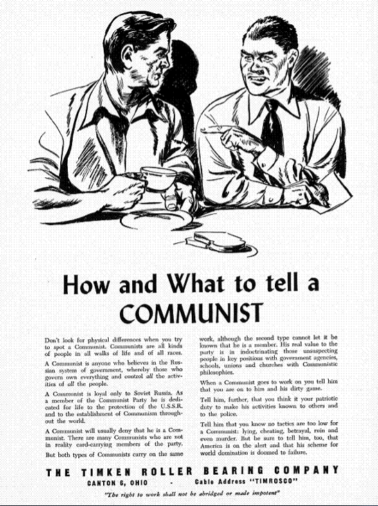 "Propaganda Poster ""How and What to tell a Communist"""