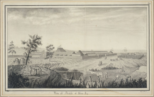 Image of Monterey Presidio in 1791