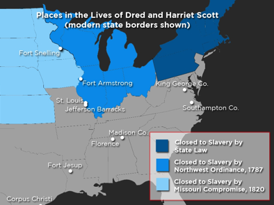 Map Of Places Where Dred Scott Lived
