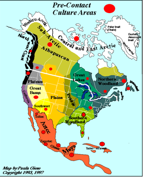 map of pre contact indian nations