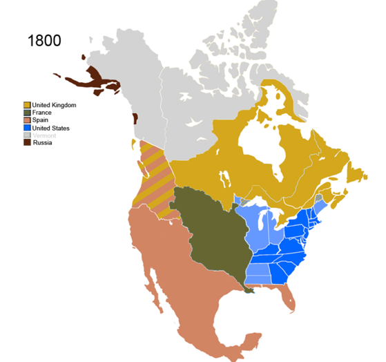 Map Of Spain And Us.Geography Manifest Destiny