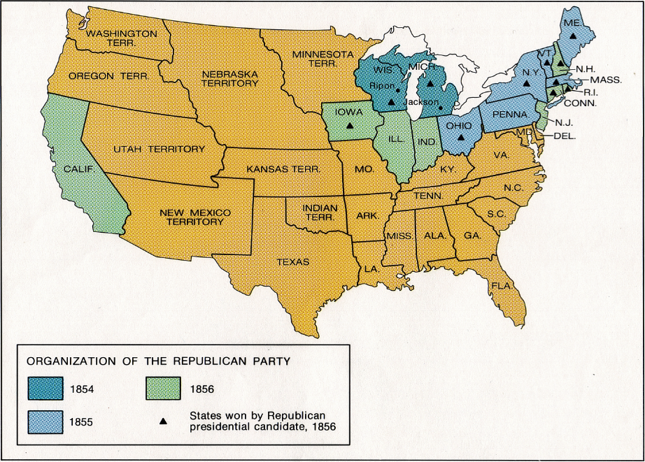 as such map of the emergence of the republican party