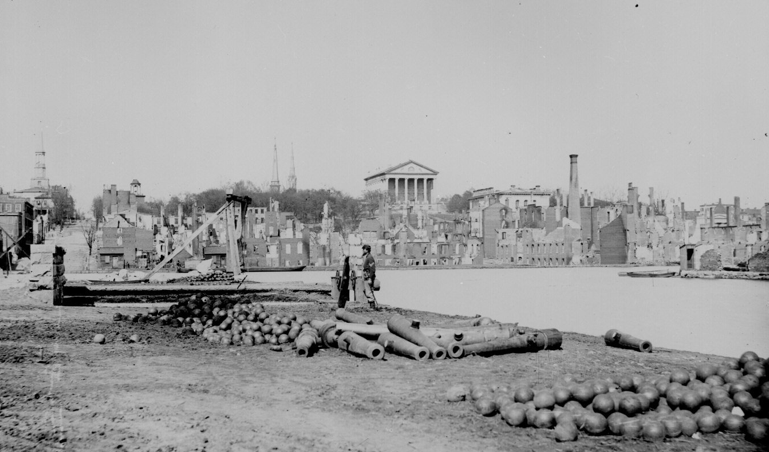Photograph of Richmond after the Civil War