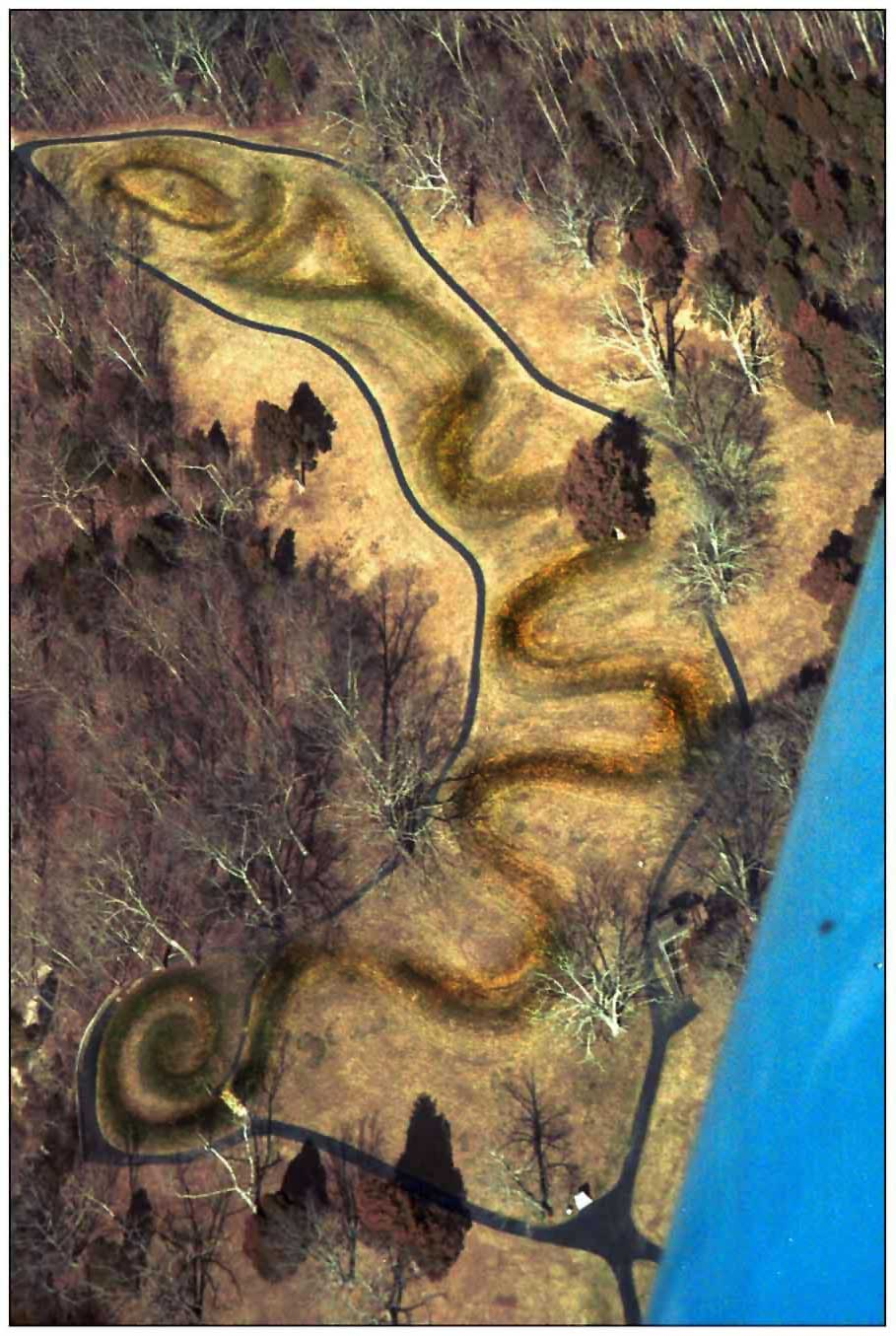 Aerial View Of Great Serpent Mound