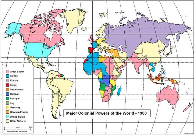 Printables Map Of American Imperialism quest for empire map of colonial powers in 1900