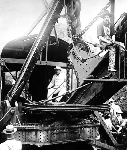 Photo of Teddy Roosevelt at Panama Canal