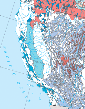However The Central Valley Undergoes Map Of California Aquifers