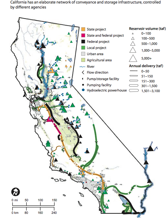 California Water - Map of us dams deficient