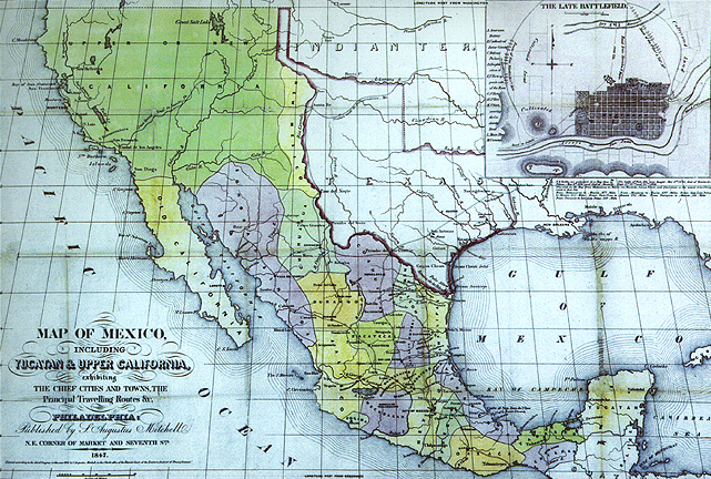 map of mexican alta califonria in 1848