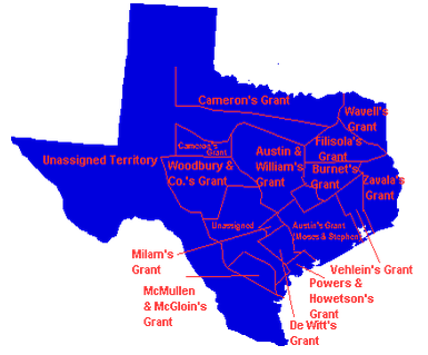 Map Of Texas Land Grants