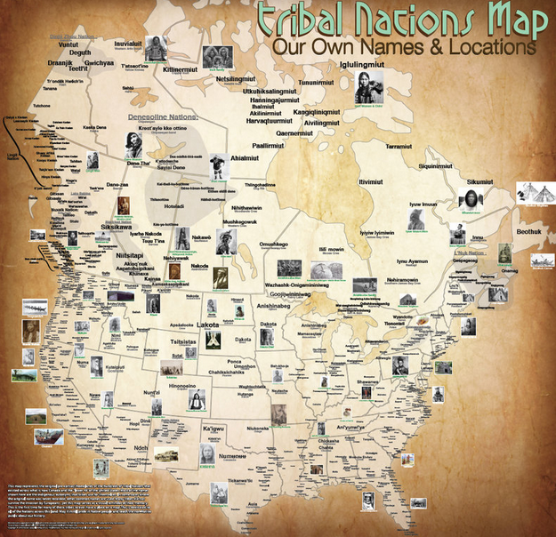 Tribal map at time of contact