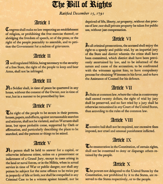 picture relating to Printable Bill of Rights titled Unled File