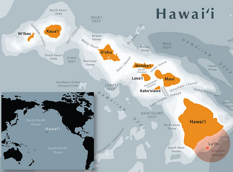 Shortly Map Of Hawaii