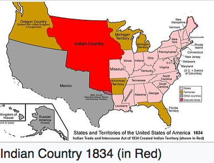 Manifest Destiny And American Indians - Us map of indian territories