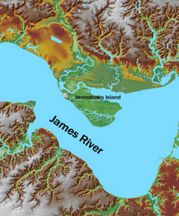 Map of james River