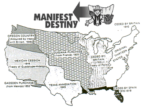 the concept and history of manifest destiny in america The role of manifest destiny in the history of the united states of america.