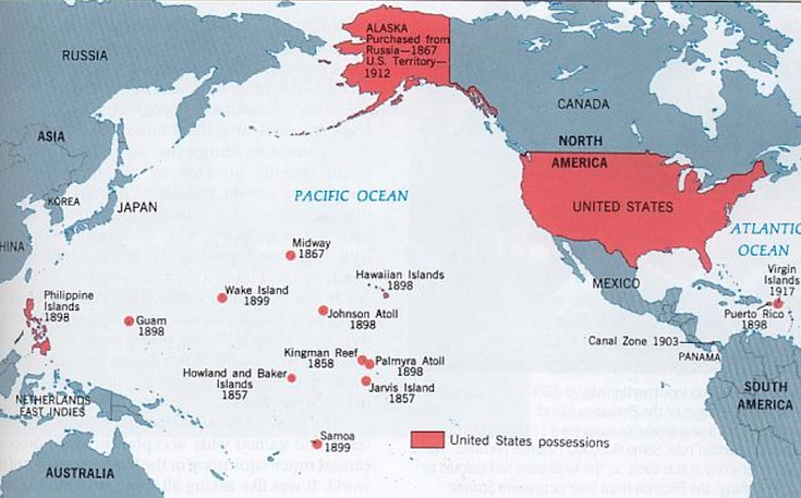Worksheets Map Of American Imperialism manifest destiny and the pacific map of american possessions in ocean